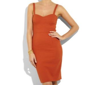 Diane Von Furstenberg Slippery Fitted Dress